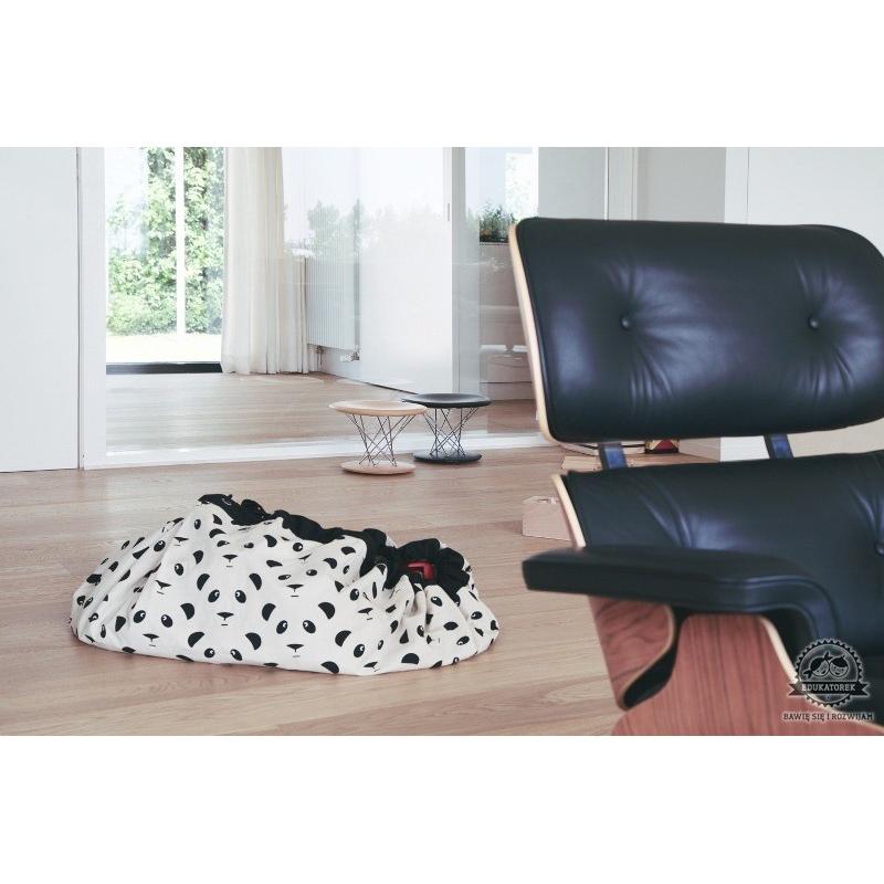 panda worek na zabawki. Black Bedroom Furniture Sets. Home Design Ideas