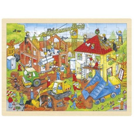 PLAC BUDOWY drewniane puzzle