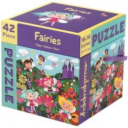 WRÓŻKI puzzle tekturowe 42 el.