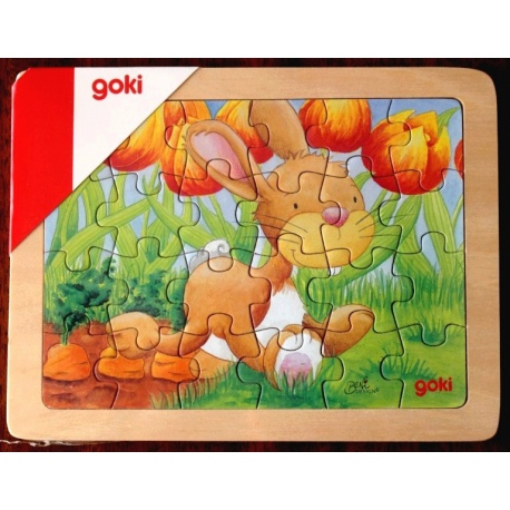 ZAJĄCZEK drewniane puzzle