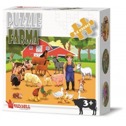 FARMA puzzle tekturowe 24 el.