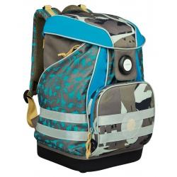 Plecak XL usztywniany z wodoodpornym dnem Dino slate