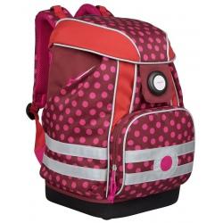 Plecak XL usztywniany z wodoodpornym dnem Dottie red