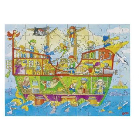 STATEK PIRACKI drewniane puzzle