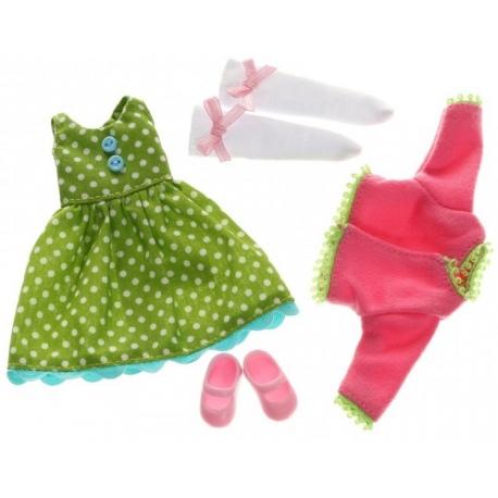 ZESTAW AKCESORIÓW wiosenna kreacja sukienka z akcesoriami