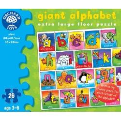 ALFABET tekturowe puzzle podłogowe 26 el.