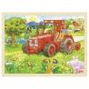 """Drewniane puzzle """"Traktor"""" Goki"""