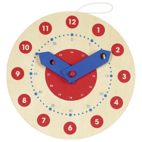 Drewniany zegar edukacyjny do nauki godzin