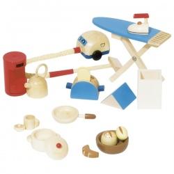 Drewniane akcesoria AGD kuchenne dla lalek