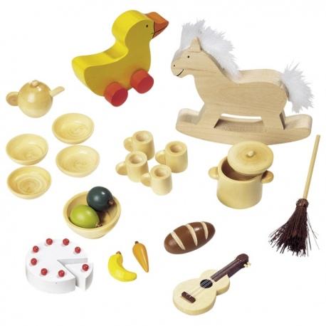 Drewniane akcesoria dla lalek