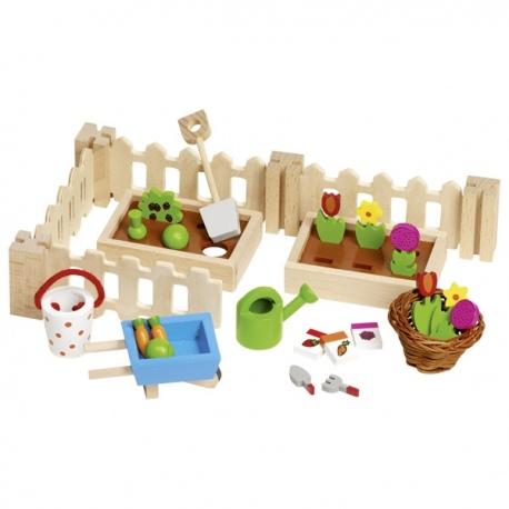 OGRÓD drewniane akcesoria dla lalek