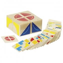 KUBUS drewniana układanka geometryczna
