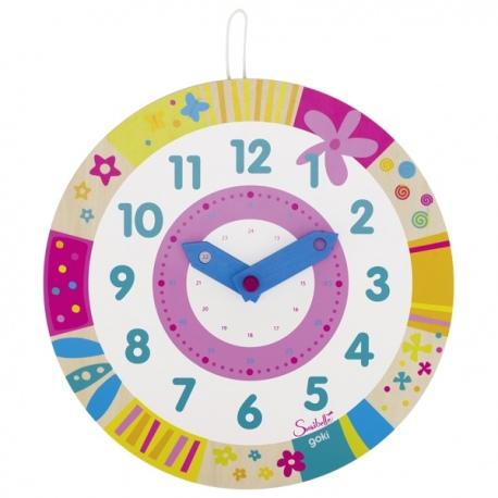 Drewniany zegar do nauki godzin SUSIBELLE