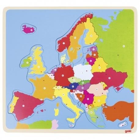 Drewniana układanka MAPA EUROPY