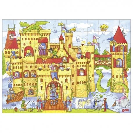 ZAMEK drewniane puzzle