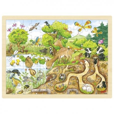 NATURA drewniane puzzle