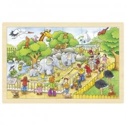 WIZYTA W ZOO drewniane puzzle