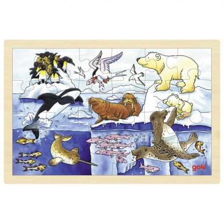 ANTARKTYDA drewniane puzzle