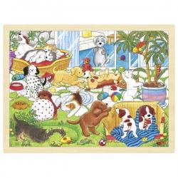 WESOŁE PIESKI drewniane puzzle