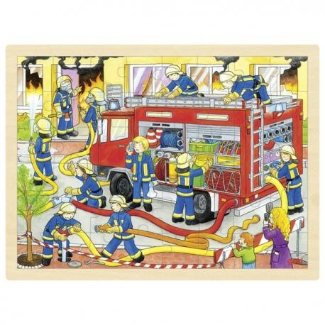 STRAŻ POŻARNA drewniane puzzle
