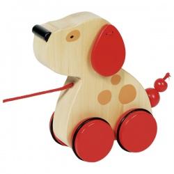 PIESEK drewniana zabawka do ciągnięcia