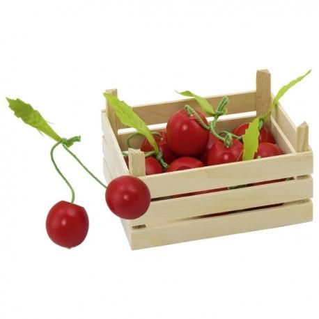 CZEREŚNIE drewniany owoc