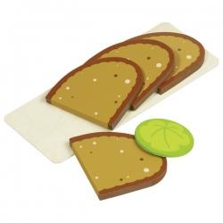 CHLEBEK drewniany zestaw do kanapek