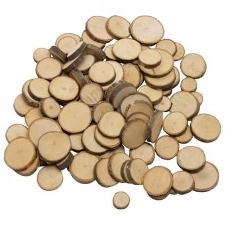 Drewniane pastylki do zajęć plastycznych