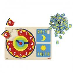 Drewniany zegar edukacyjny do nauki czasu