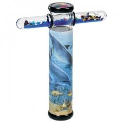 DELFIN kalejdoskop ze szklaną rurką