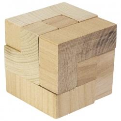 SZEŚCIAN drewniana układanka