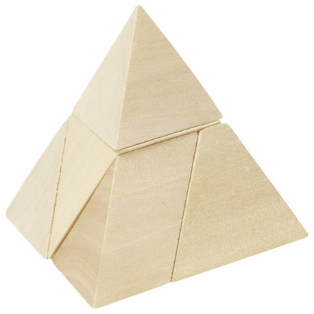PIRAMIDA drewniana układanka