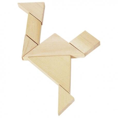 TANGRAM drewniana łamigłówka