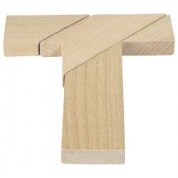 LITERA T drewniana układanka