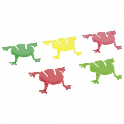 SKACZĄCE ŻABKI zabawka zręcznościowa 5 sztuk