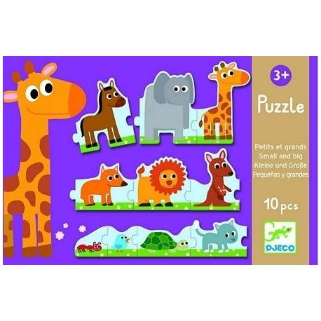 MAŁE I DUŻE ZWIERZĄTKA puzzle tekturowe