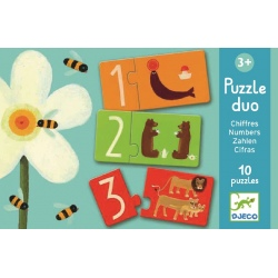LICZBY puzzle tekturowe duo