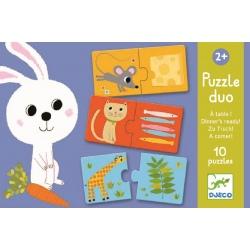 ZWIERZĄTKA I OBIADKI puzzle tekturowe duo