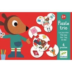 MÓJ DZIEŃ  puzzle tekturowe trio