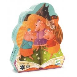 TRZY MAŁE ŚWINKI puzzle w kartoniku
