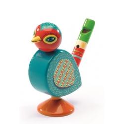 DREWNIANY GWIZDEK kolorowy ptaszek