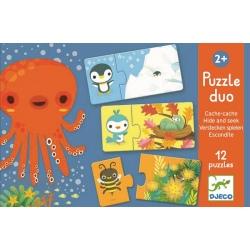 ZABAWA W CHOWANEGO puzzle tekturowe duo