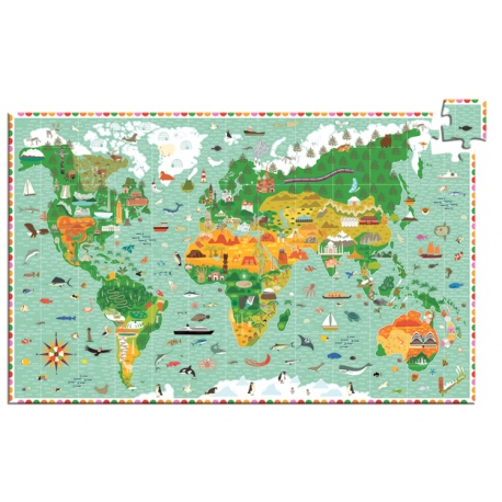 MAPA ŚWIATA puzzle obserwacje