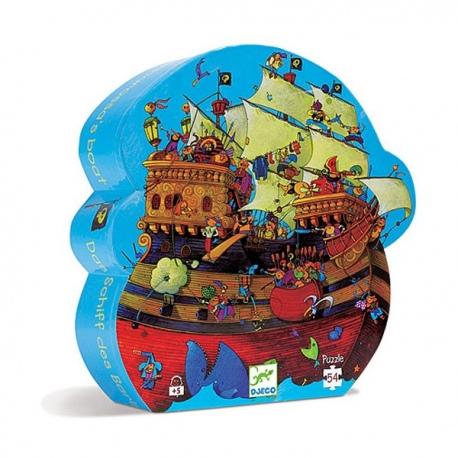STATEK PIRACKI puzzle w kartoniku