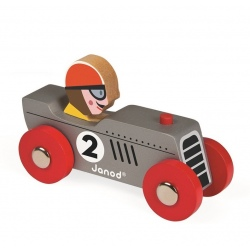 RETROMOTOR srebrna wyścigówka