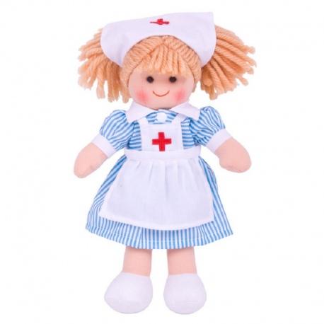 Szmaciana lalka PIELĘGNIARKA