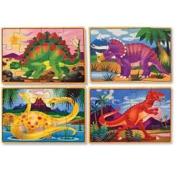 DINOZAURY puzzle 4 w 1