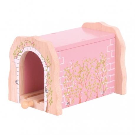 Drewniany różowy tunel