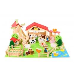 Drewniana FARMA z figurkami