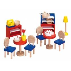 KAWIARNIA drewniane mebelki dla lalek